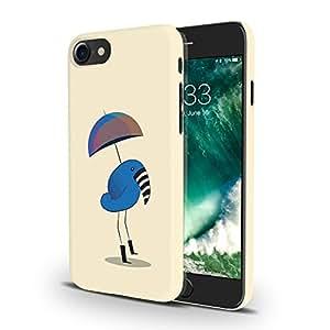 Koveru Designer Printed Protective Snap-On Durable Plastic Back Shell Case Cover for Apple iPhone 7 - Zebra beak bird with umbrella