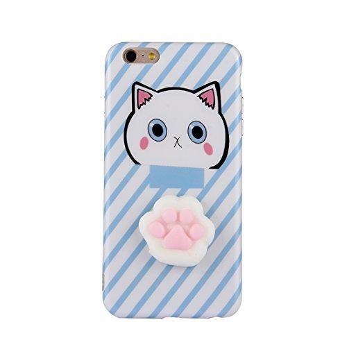 Phone Case & Hülle Für iPhone 6 Plus & 6 s Plus 3D Schöne Katze Cartoon-Muster Squeeze Relief IMD Verarbeitung Squishy Dropproof Schutz-Rückseite Case ( Size : Ip6p0714f )