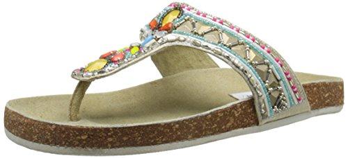 Steve Madden Fiestaa - Sandalo da donna Multicolore (Bright Multi)