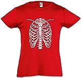 Skeleton I Mädchen Kinder T-Shirt Bones Knochen Skelett Halloween Karneval Fastnacht Fasching Skull Schäel Fear The