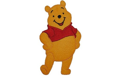 alles-meine.de GmbH XXL großes - Bügelbild - Winnie The Pooh - 12 cm * 20 cm - Aufnäher Applikation Patch Bär / Bügelflicken Puuh Aufbügelflicken - Flicken Teddy Teddybär Baby P.. -