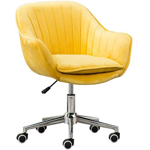 Anac Home-Office-Stuhl mit hoher Rückenlehne, modernes Design Schreibtisch-Arbeitsstuhl mit Armen im Arbeitszimmer (Color : Yellow)