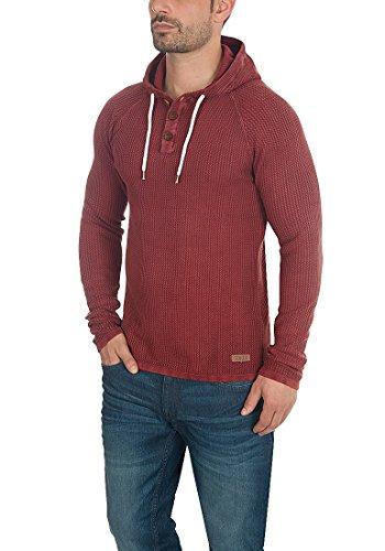 SOLID Ten Herren Kapuzenpullover Hoodie Sweatshirt aus 100% Baumwolle Meliert Wine Red