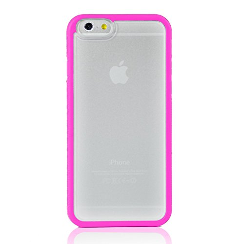"iProtect Apple iPhone 6 (4,7"") Hülle Bumper Hard Case TPU + PC Schutzhülle transparent Bumper Hülle Pink"