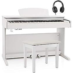 Pack avec Piano Numerique DP-10X par Gear4music + Tabouret Blanc