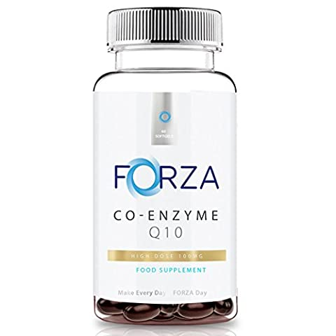 FORZA Co-Enzyme Q10 (CoQ10) 100mg - CoEnzyme Q10 - 60 Softgels