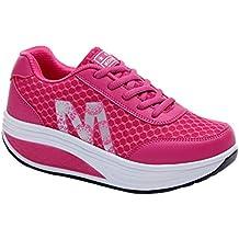 Daytwork Adelgazar Sneakers Zapatillas Plataforma - Mujer Zapatos Zapatillas de Deporte Atlético Gimnasio Cuñas Caminar Peso