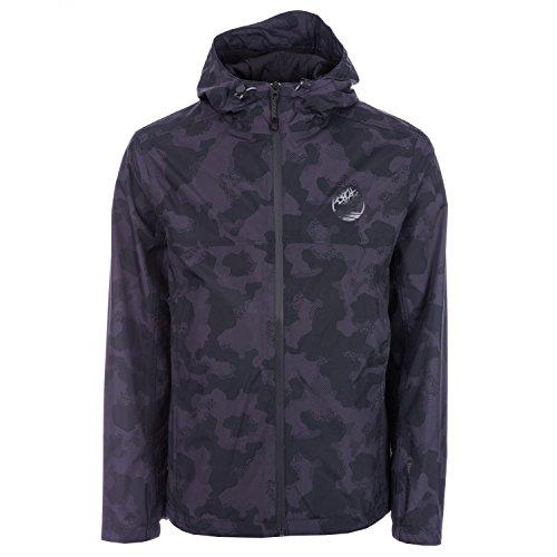 Timberland Herren Jacke mit Kapuze, wasserdicht, Reißverschluss, Reißverschlusstaschen Gr. M, Schwarz