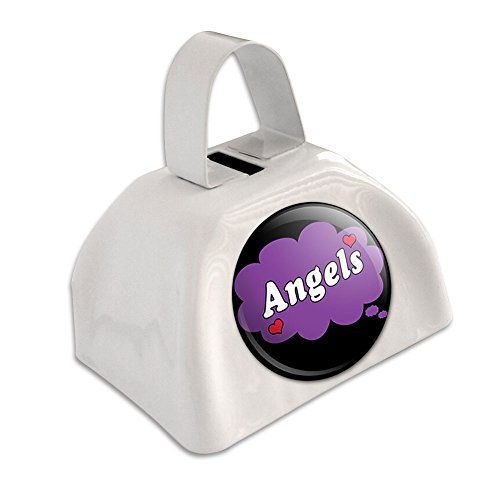 Angeln Kuhglocken (Dreaming of Angels violett weiß Cowbell Kuhglocke)