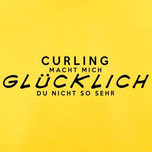 Curling macht mich glücklich - Herren T-Shirt - 13 Farben Gelb