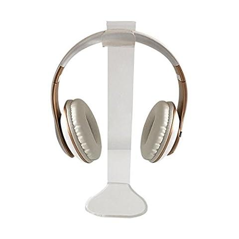 Huihong Universelle Acrylic Kopfhörer Headset Halterung Halter Ständer Standplatz Aufhänger für Spiel Kopfhörer (Klar)