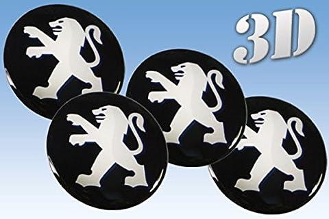 pegatinas rueda del emblema de Peugeot de todos los tamaños