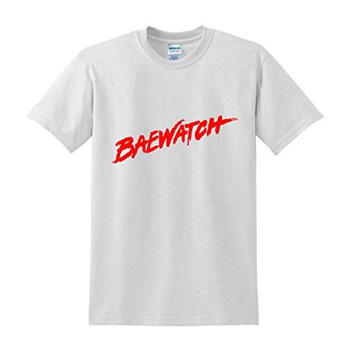 Write Here Herren T-Shirt, Slogan Weiß