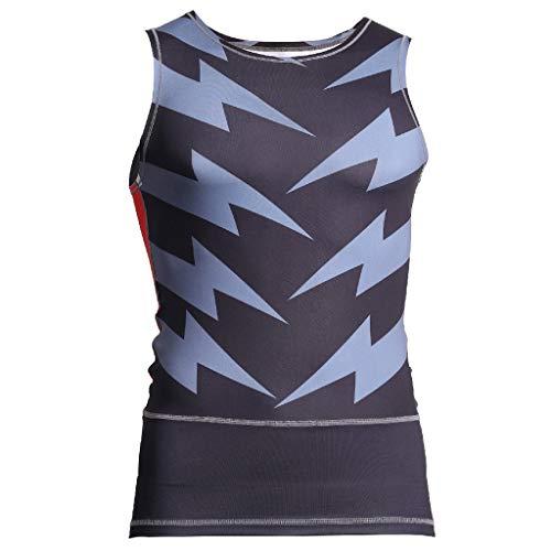 DEELIN Herren Tank Top Classic Unterhemd,Rundhalsausschnitt Blitz-Symbol der Art- und Weisemänner reizvolle dünne Sport-Sleeveless-Hemden T-Stück Weste T-Shirt Tank Sport ()