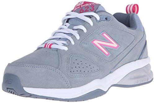 New Balance Women's WX623V3 Training Shoe Grey/Pink