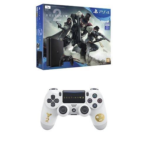 PlayStation 4 - Consola De 1 TB + Destiny 2 + Sony - Mando Dual Shock 4 Destiny (PS4)