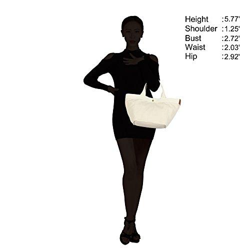 Veevan Mini Sac à Main Femme Sac Cabas 12L Sac Déjeuner en Toile(Gris) Abricot