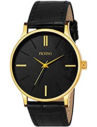 Frosino FRAC101841 Black Strap with Black dial Analog Watch for Boys and Men