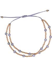 C.QUAN CHI Tissé Amitié Bracelet Femmes Chaîne Agate Sead Perlé Cire Corde  À La 5e28bb9caf19