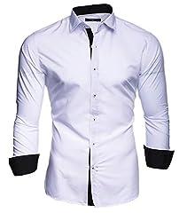 Idea Regalo - Kayhan Uomo Camicia, TwoFace White L