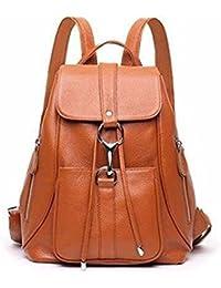 Leather women Bag lady bag Leisure female bag Large capacity backpack 25*13*32cm Luggage Pack Straps
