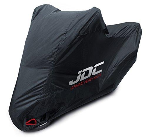 JDC Housse Moto 100% étanche - Ultimate Heavy Duty (Extra Robuste, Doublure Souple, Panneaux résistants à la Chaleur, Coutures étanchéifiées) - XL Top Case
