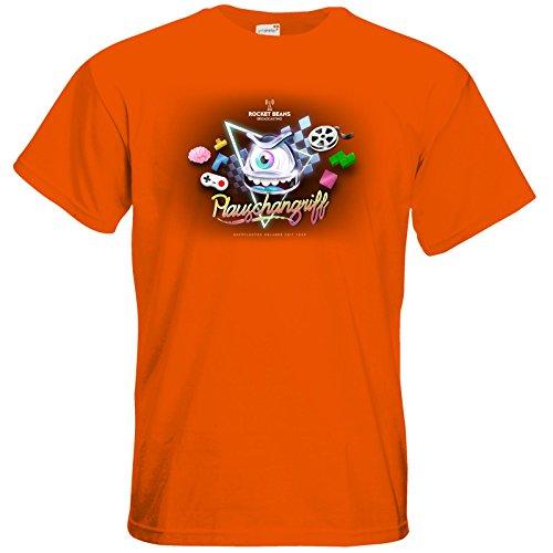 getshirts - Rocket Beans TV Official Merchandising - T-Shirt - Plauschangriff Orange