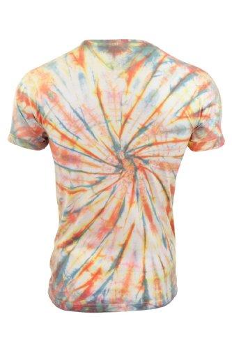 Soul Star - Herren T-Shirt Rio Brazil 'Loha & Lollipop' Batik Druck Rundhals Ausschnitt T-Shirt Loha (Aloha)