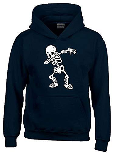 Dabbing Skelett 2C Hoodie Sweatshirt mit Kapuze schwarz Gr.164 cm