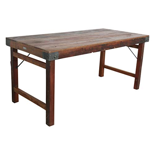 STUFF Loft Vintage Klapptisch Esstisch Tisch aus Altholz 165 cm - Factory Collection Maße: 165 x 80 x 76 (LxBxH) - Altholz Tisch