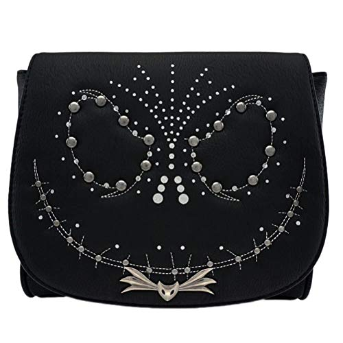 Loungefly x Nightmare Before Christmas Jack Studded Flap Crossbody Bag