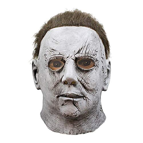 Michael Kostüm Myers Echte - JYKING Michael Myers Maske Halloween Cosplay Horror Vollmaske Scary Movie Charakter Erwachsene Cosplay Kostüm Michael Myers Latex