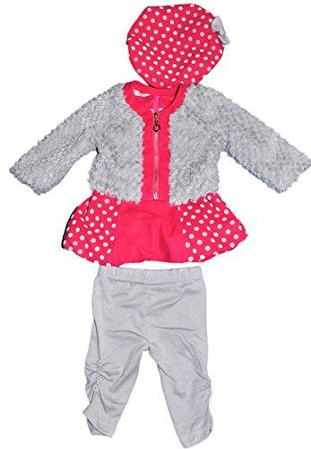 Chicaprie - Conjunto - para bebé niña Fucsia 24 Meses 3f0ef4f2971