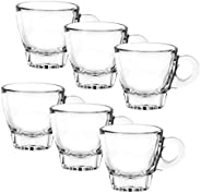 OCEAN Cafe Espresso Cup, Pack of 6, Clear, 70 ml, P02442