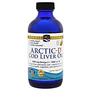 Nordic Naturals - Arktisches-d Dorschleber-öl mit Zitrone des Vitamin-D - 8 Unze.
