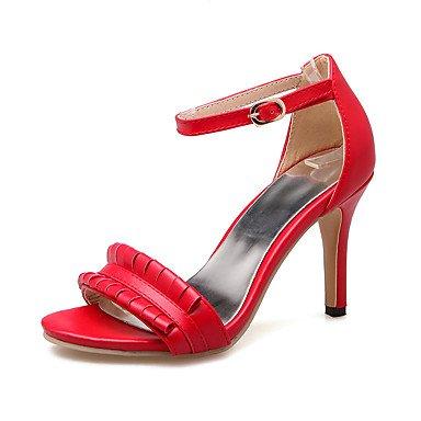 LvYuan Da donna-Sandali-Formale Casual Serata e festa-Altro-A stiletto-PU (Poliuretano)-Nero Rosso Beige Red