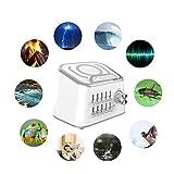 USB di Ricarica Sonno Meter, Noise Machine Sleeper, Musica astuta di Sonno Meter può Essere Impostato per Regolarmente Play The Noise Sleeper elettronico Bianco Fisica