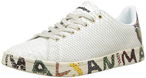Desigual Damen Shoes_Cosmic Animal Sneaker, Weiß (Blanco 1000), 40 EU