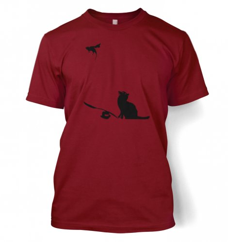 Ratapult Männer Banksy T-Shirt Männer T-Shirt Scharlachrot