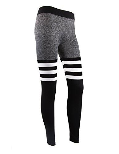 ipretty damen fitness yoge sport elastische gestreifte. Black Bedroom Furniture Sets. Home Design Ideas