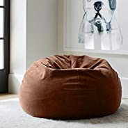 Regal In House relaxing bean bag velvet Large - Brwon