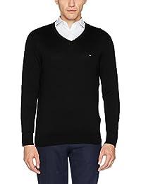 Tommy Hilfiger Herren Pullover Core Cotton-Silk Vneck