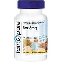 Bore 3mg, tétraborate de sodium, 120 comprimés, sans additifs, vegan, oligo-élément