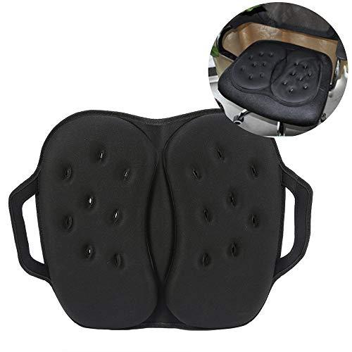 MYF&GBB Faltbares Gel-Sitzkissen mit Memory Foam-Gel-Sitzkissen, geeignet für Auto-Büroschutzmatten, männliche und weibliche Schutzmatten, schwarz - Massieren, Wärme-pad