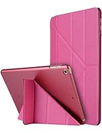 """Thrion Ultra Slim Función de Soporte Protectora Plegable Smart Cover [Auto-Desbloquear] [Botones Protegidos] Funda para Apple iPad Pro 9.7"""" - Fucsia (Auto Sueño/Estela)"""