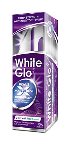 White Glo 2in1 Whitening Toothpaste with Mouthwash-100 ml
