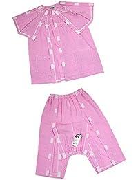 D DOLITY 1 unidad Pantalones con Camisa para Paciente Suave Cómodo de rosa