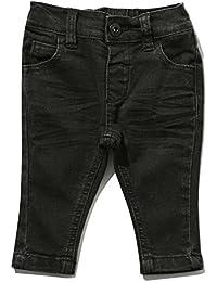 M&Co Baby Boy Cotton Rich Plain Black Elasticated Waistband Pocket Detail Denim Skinny Jeans