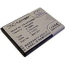 Batterie Li-Ion 1400mAh (3.7V) vhbw pour téléphone portable smartphone Acer Liquid M220, Z200, Z220 comme BAT-311, BAT-311(1ICP5/43/55), KT.0010S.011.