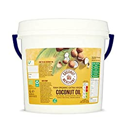 4L Coconut Merchant Olio di Cocco Organico | Olio Extra Vergine, Crudo, Spremuto a Freddo, Non Raffinato | Fonti Etiche…